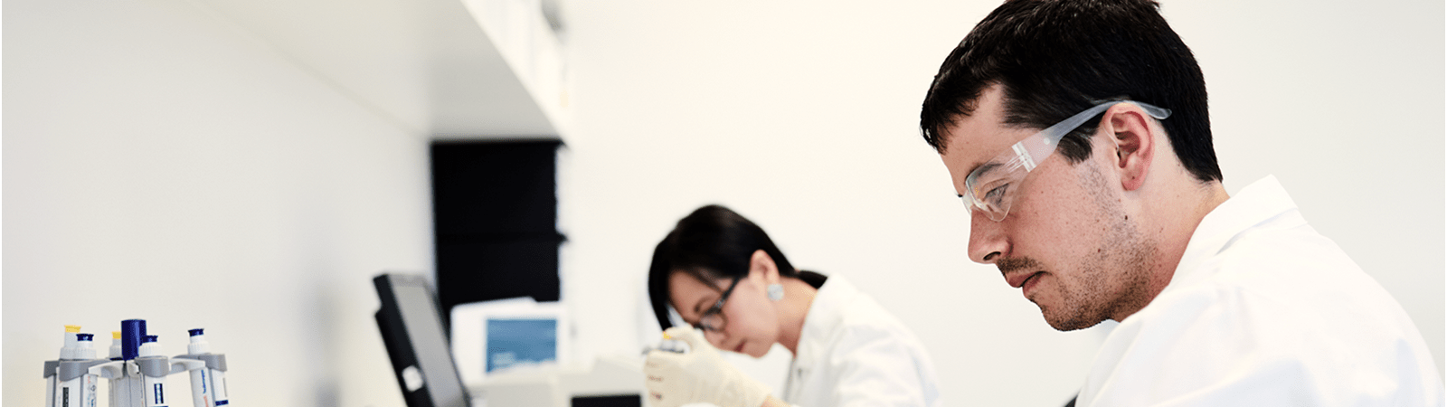 Two research scientist in a lab